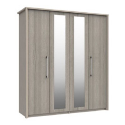 Burford 4 Door Wardrobe With 2 Mirrors