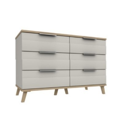Derwent 3 Drawer Double Chest