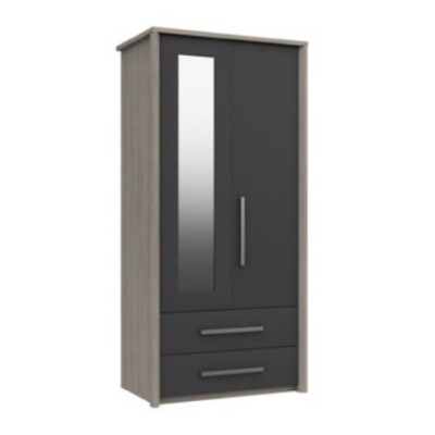 Arundel 2 Door Combi Wardrobe With Mirror