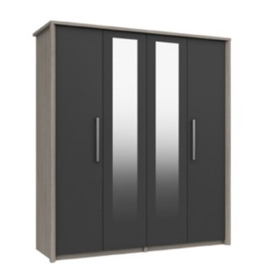 Arundel 4 Door Wardrobe With 2 Mirrors Door