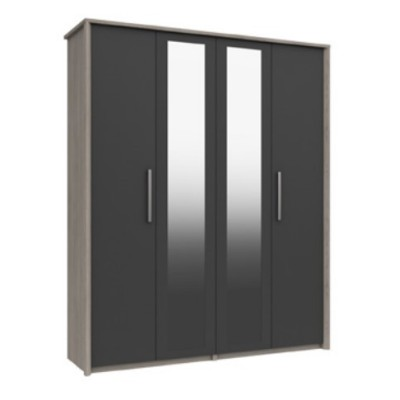 Arundel Tall 4 Door Wardrobe With 2 Mirrors Door