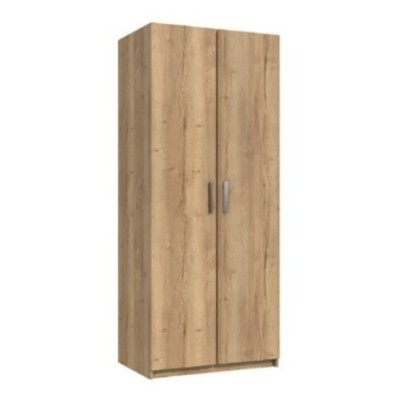 Waterfall 2 Door Wardrobe Natural Rustic Oak