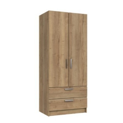 Waterfall 2 Door Gents Wardrobe Natural Rustic Oak