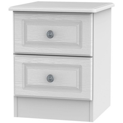 Pembroke White 2 Drawer Bedside
