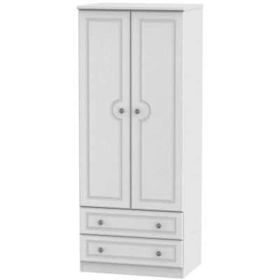 Pembroke White 2 Drawer 2 Door Wardrobe