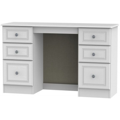 Pembroke White 6 Drawer Dressing Table