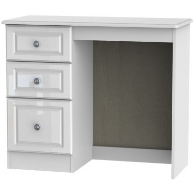 Pembroke High Gloss White 3 Drawer Dressing Table