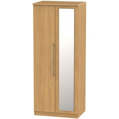 Sherwood Oak 2 Door Wardrobe with mirror