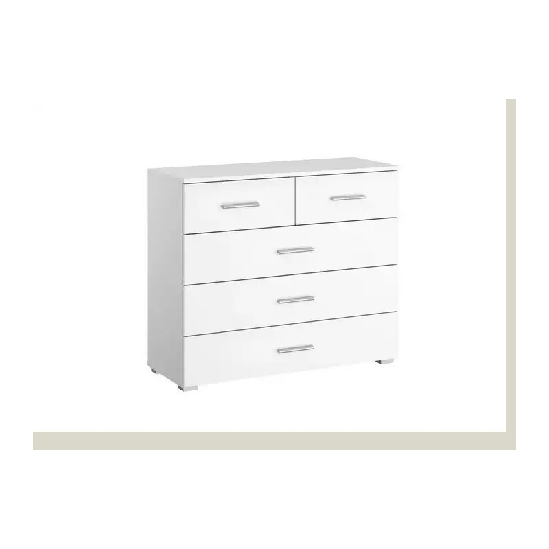 Celline 4+2 Chest of Drawers White Gloss