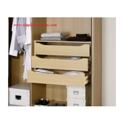 Wardrobe 3 drawer Internal Chests 90cm