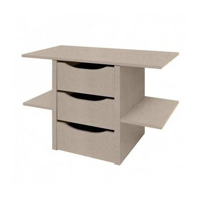 Lima Kent Wardrobe 3 drawer chest with shelves Product Code: Kent9898