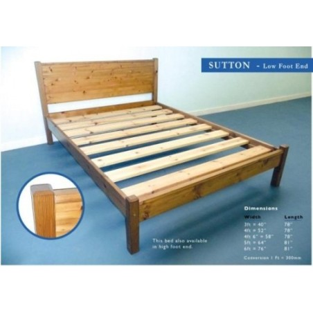 London 4ft Wooden Bed