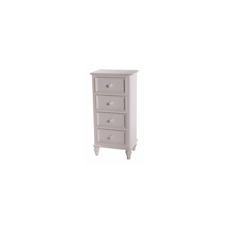 Tuscany White 4 Drawer Chest Product Code: TUSW4DC