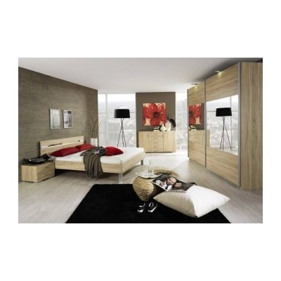 Rauch Beluga 2 Door Sliding Wardrobe 226cm Front Full Mirrored Finish